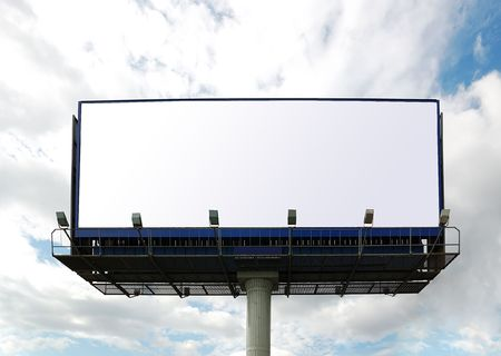 posting: Billboard sign. Stock Photo