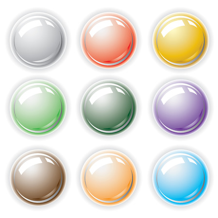 Button from colors. Stock Vector - 6464417