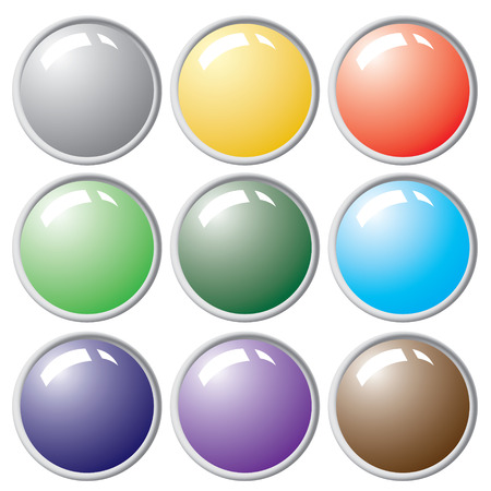 Button from colors. Stock Vector - 6464311