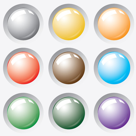 Button from colors. Stock Vector - 6464157