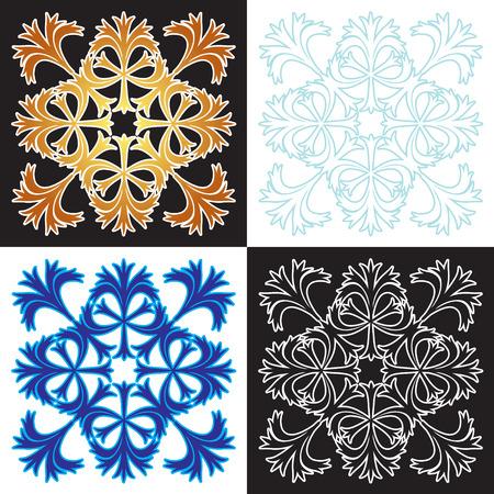 Decorative elements. Vector