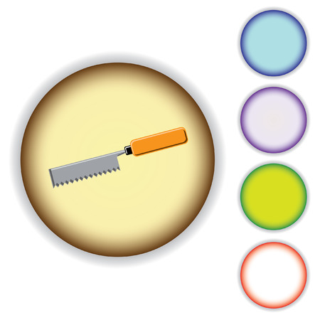 Set of the buttons. Hand instrument. Vector