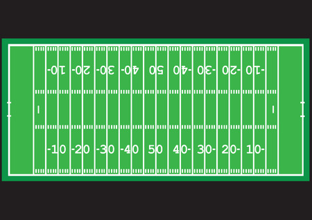 Game with a ball. American football. Ilustração