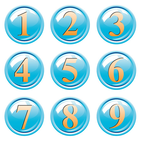 sixth form: Button with numbers.