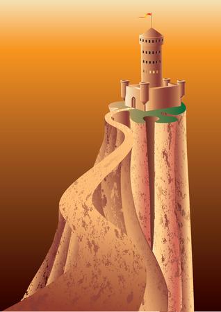 Le Château de montagnes.  Vecteurs