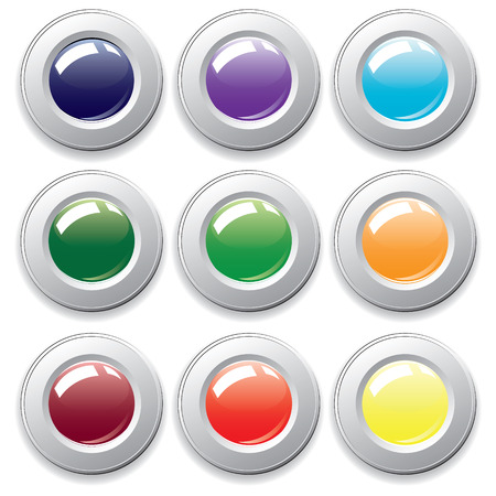 varicolored: Varicolored buttons.