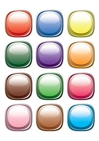 varicolored: Varicolored buttons. Vector.