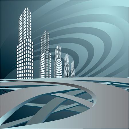 都市景観。  イラスト・ベクター素材