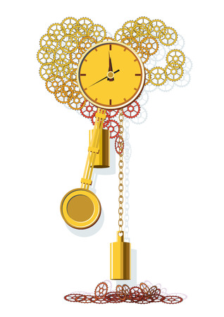 Clock conduct counting out of life. Vector