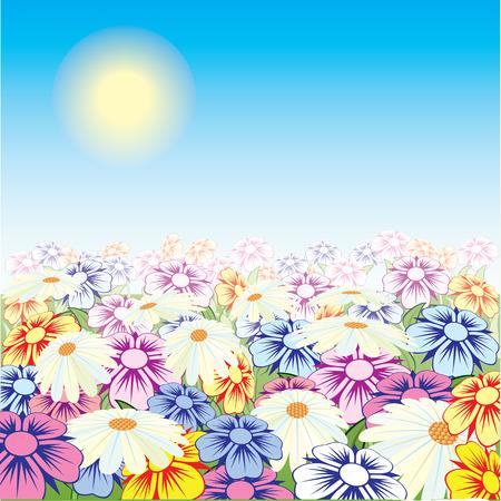 美しい花です。ベクトル。
