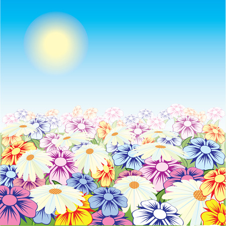 Beautiful flower. Vector. Illustration