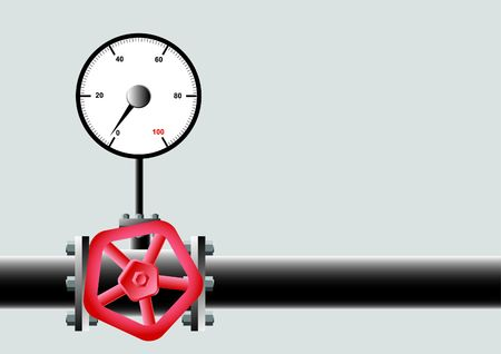needle valve: Device of pressure of gas.  Illustration