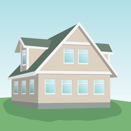 Country house. Vector