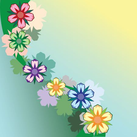 creative potential: Abstract floral background.  Illustration