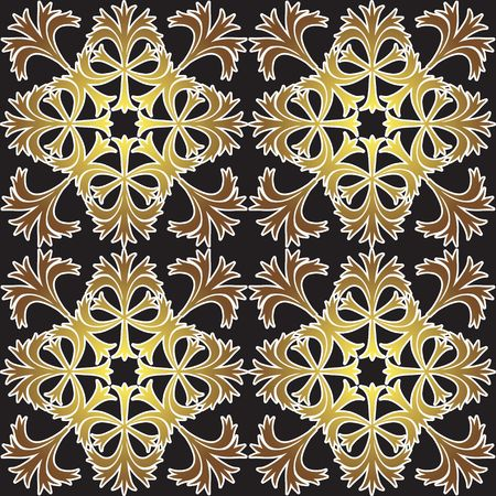 Decoration vintage element. Floral style. Vector
