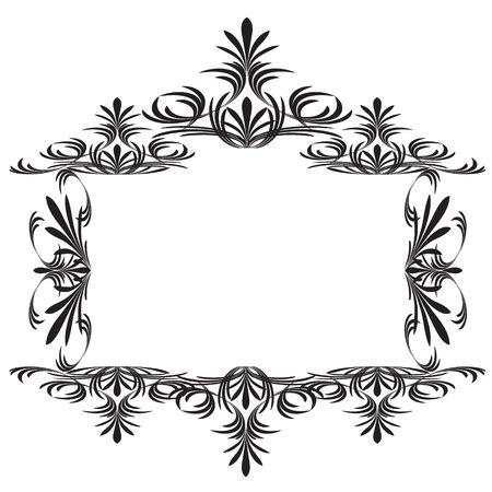 Decoration vintage element. Floral style. Vector