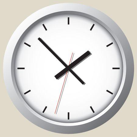 Wall clock. Graphic element. Graphic desing illustration. Ilustração
