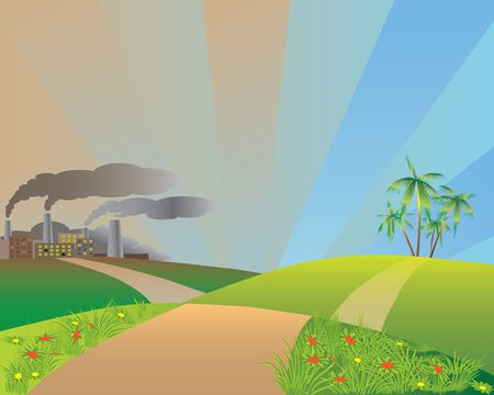 Nature and industry.   Stock Vector - 6798018