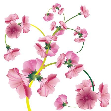 花のデザイン要素。ベクトル イラスト。  イラスト・ベクター素材