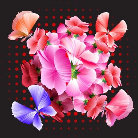 花のデザイン要素。