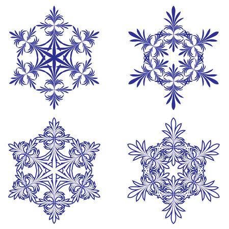 雪片。イラスト。