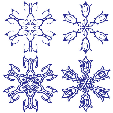 Snowflakes. illustration. Vector