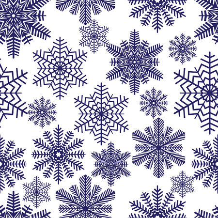 Snowflakes. illustration. Seamless. Vector