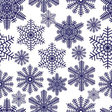 Snowflakes. illustration. Seamless.