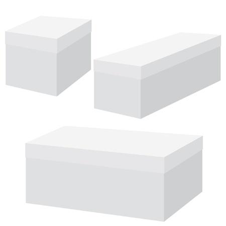 白い空白のボックスです。ベクトル イラスト。