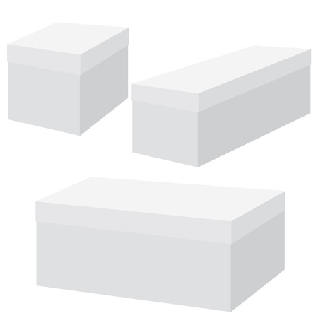 White blank box. Vector illustration. Vector