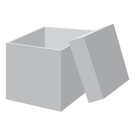 White blank open box. Vector illustration. Vector
