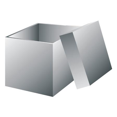 White blank open box. Vector illustration. Vector