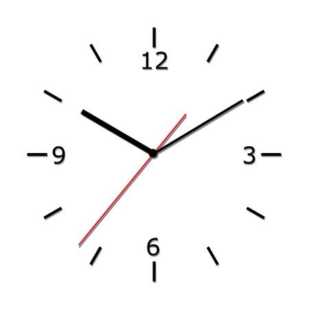 Wall clock. Illustration