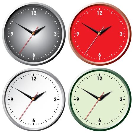 clock icon: Wall clock. Illustration