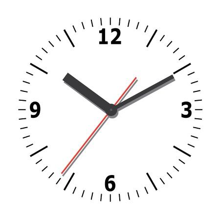 office clock: Reloj de pared.  Vectores