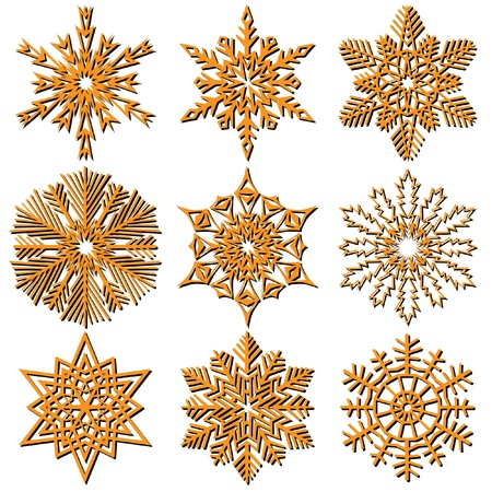 Snowflakes. Stock Photo - 9251670