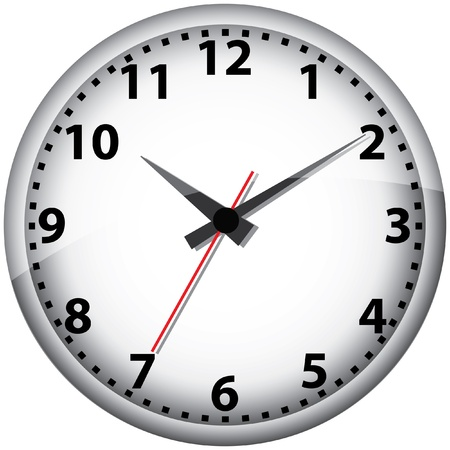 office clock: Ilustraci�n de reloj de pared.