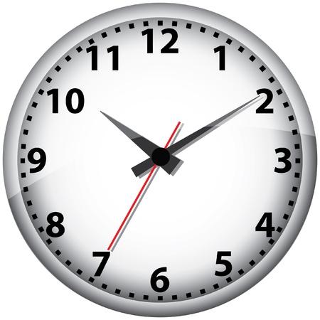Wall clock illustration. Vector