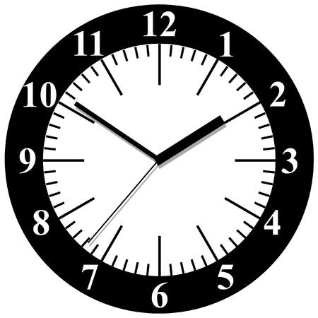 circa: Wall clock illustration.
