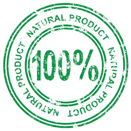 Stamp. Guarantee a natural product Vector