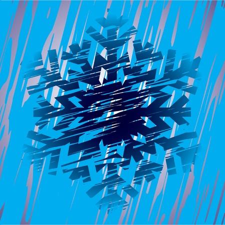 Decorative snowflake. Vector illustration. Stock Vector - 11328393