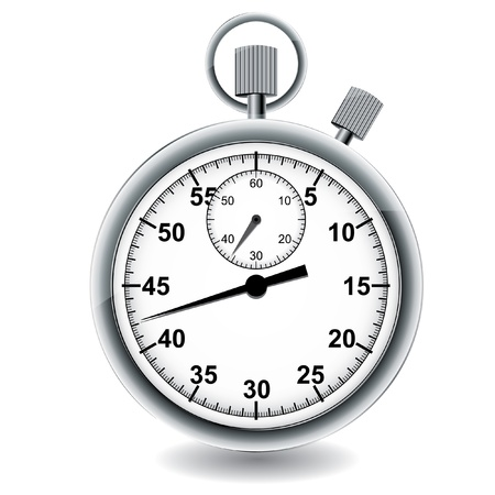 timer: Stopwatch illustration. Illustration