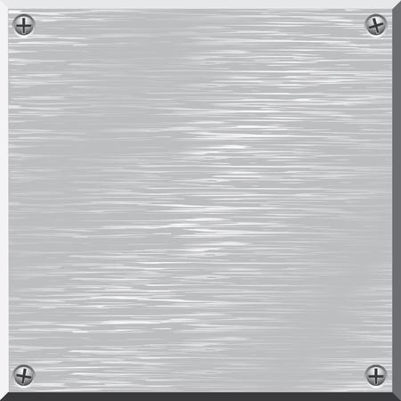 aluminio: Superficie del metal. Vector. Dise�o elemento.