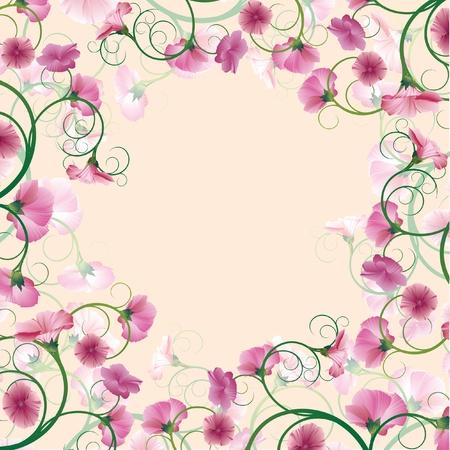花の背景。ベクトル イラスト。  イラスト・ベクター素材