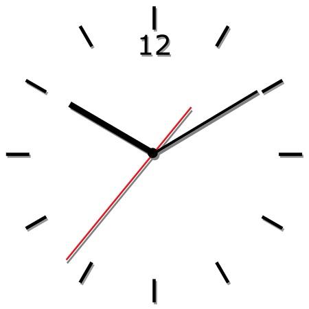 壁掛け時計。ベクトル イラスト。