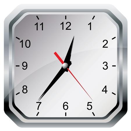 Wall clock. Vector illustration. Stock Vector - 12425369