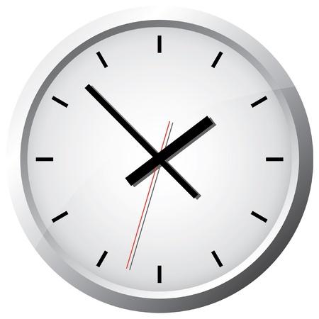 wall clock: Wall clock. Vector illustration.