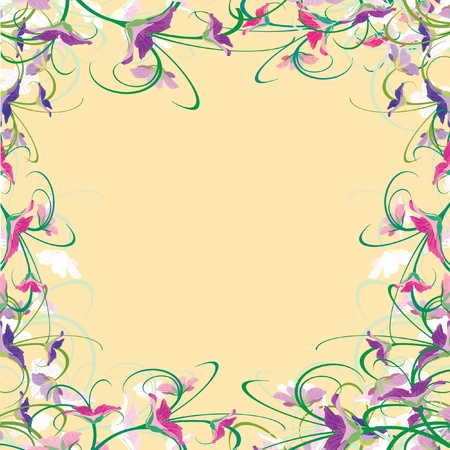 Flower background. Vector illustration. Vector