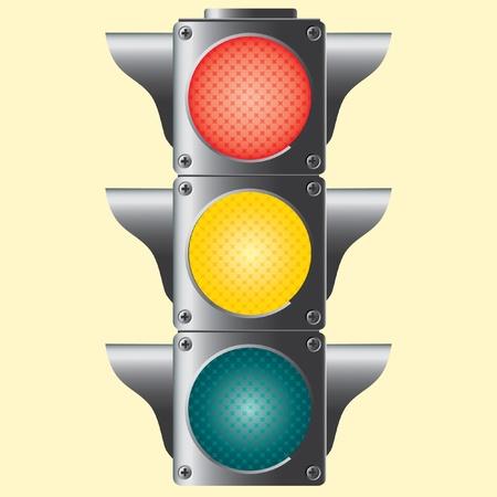 Traffic lights. Vector illustration. Vector