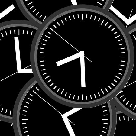 Wall clock  Vector illustration  Seamless  Vector